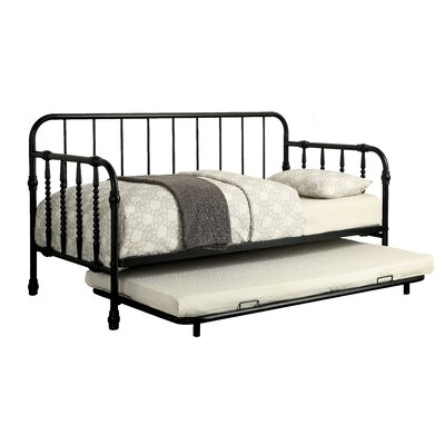 Reinhardt Industrial Daybed with Trundle Color: Black