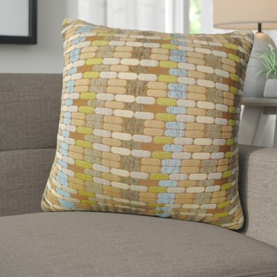 Newburyport Jacquard Geometric Toss Throw Pillow Color: Mocha