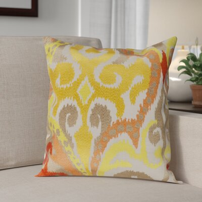 Claysburg Throw Pillow Cover Size: 18 H x 18 W x 1 D, Color: YellowOrange