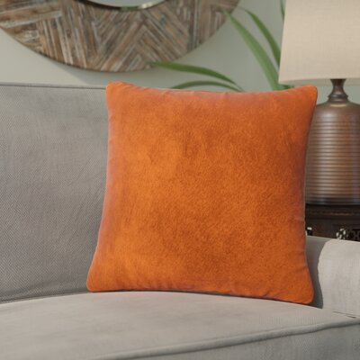 Graham Leather Throw Pillow Color: Orange