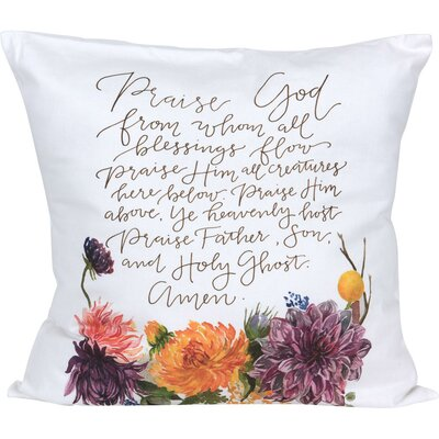 Dundermot Grace Laced Doxology Throw Pillow