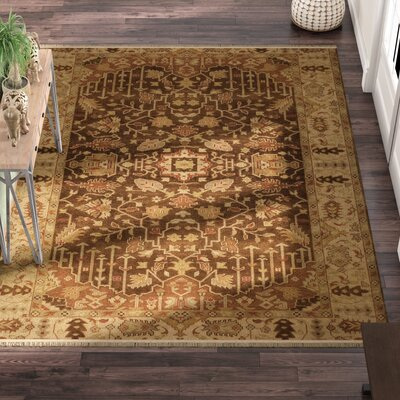 Adrien Brown Wool Area Rug Rug Size: Rectangle 8 x 11