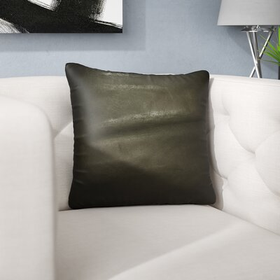 Dorine Leather Square Cowhide Throw Pillow Color: Chocolate