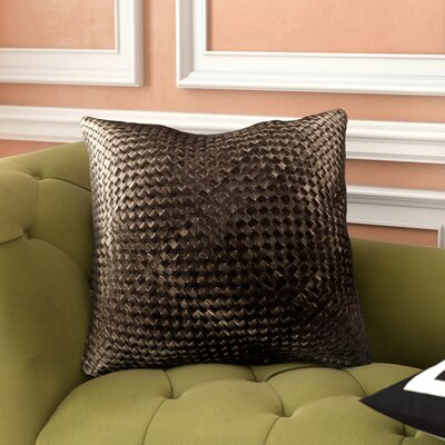 Sherlene Throw Pillow Color: Black, Fill Material: Down Fill