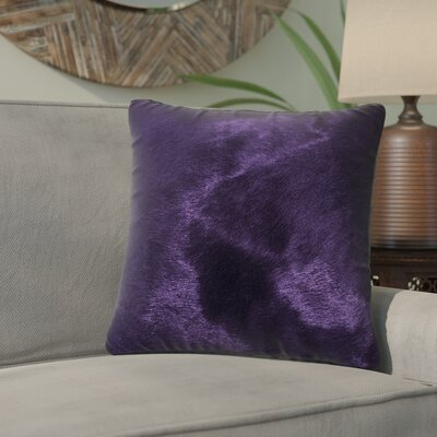 Graham Leather Throw Pillow Color: Purple