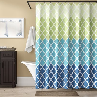 Nakasi Flat Shower Curtain Color: Geneva Green