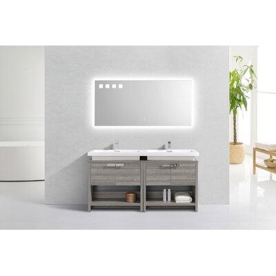 Politte 63 Single Bathroom Vanity with Cubby Hole