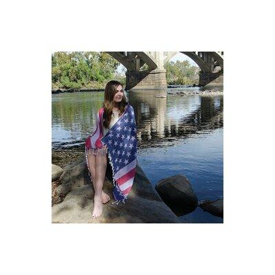 Turkish Cotton American Flag Beach Towel