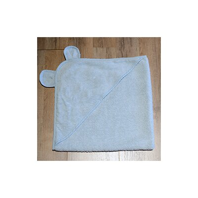 Turkish Cotton Baby Hooded Bath Towel Color: Blue