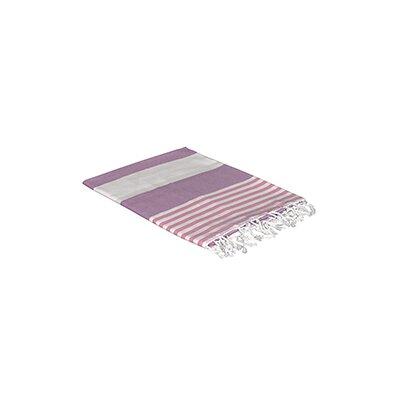 Turkish Beach Towel Color: Pink/Purple