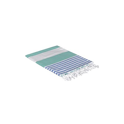 Turkish Beach Towel Color: Green/Blue