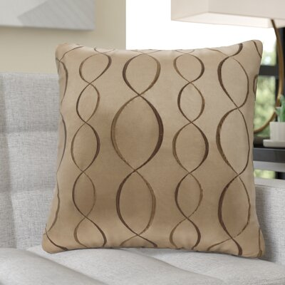 Nikhel Ogee Taffeta Throw Pillow Color: Tan