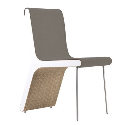 Hervey Upholstered Dining Chair Upholstery Color: Eco Leather Graphite