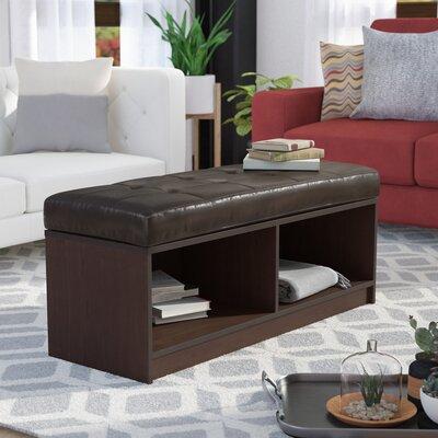 Marla Ottoman Upholstery: Brown