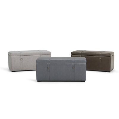 Dorchester 5 Piece Storage Ottoman Set Upholstery: Stone Gray