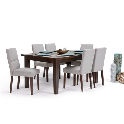 Ashford 7 Piece Dining Set Chair Color: Cloud Grey