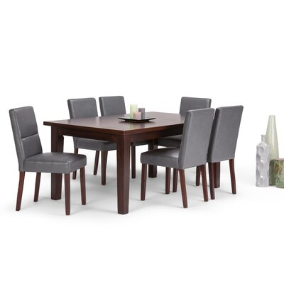 Ashford 7 Piece Dining Set Chair Color: Stone Grey