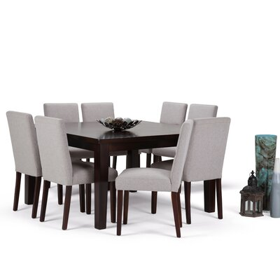 Ashford 9 Piece Dining Set Chair Color: Cloud Grey