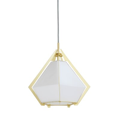 Drinnon Metal and Glass 1-Light Mini Pendant