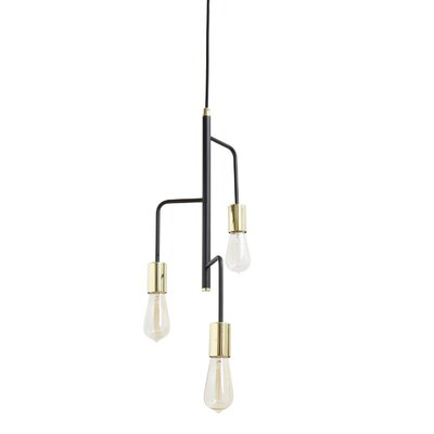 Cadiz Metal 3-Light Cluster Pendant
