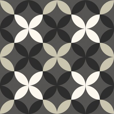 Clover 12 x 12 Vinyl Tile in Gray