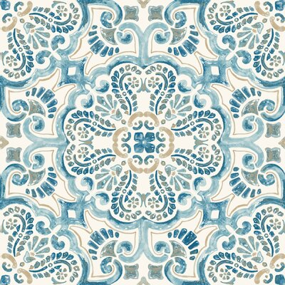 Fontaine Peel & Stick 12 x 12 Tile in Blue