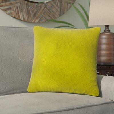 Graham Leather Throw Pillow Color: Yellow