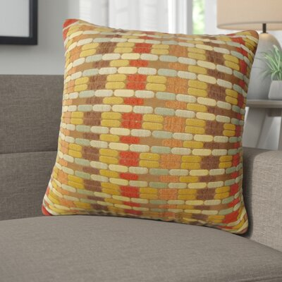 Lanesville Jacquard Geometric Toss Throw Pillow Color: Brick Red