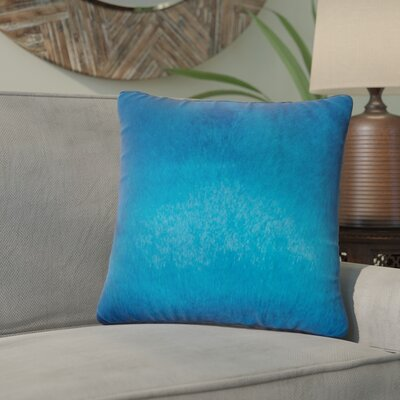 Graham Leather Throw Pillow Color: Royal Blue