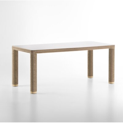 Heslin Dining Table Base Color: Natural, Size: 40 D x 56 W x 30 H