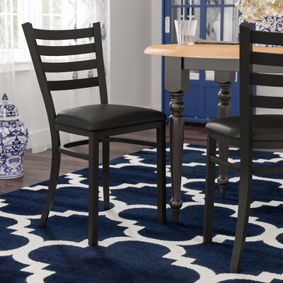 Bartlet Upholstered Side Chair Color: Black Vinyl