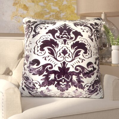 Lorenza Juliette Feather Throw Pillow Color: Aubergine