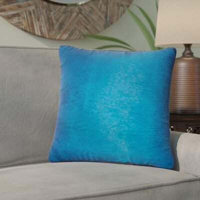 Graham Leather Throw Pillow Color: Sky Blue