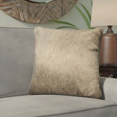 Graham Leather Throw Pillow Color: Taupe
