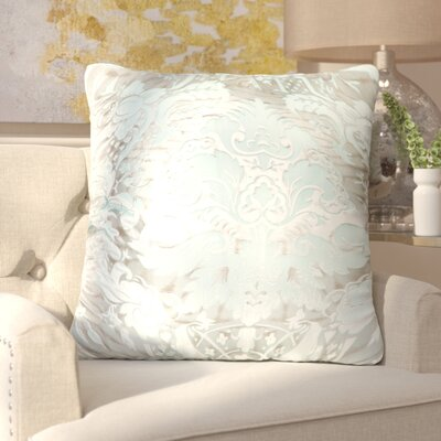 Lorenza Juliette Feather Throw Pillow Color: Aquamarine