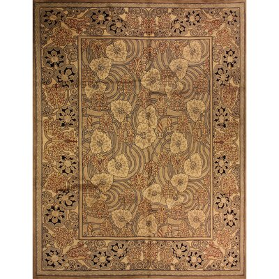One-of-a-Kind Mulhall Hand-Knotted Wool Tan/Ivory Area Rug