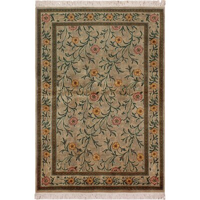 One-of-a-Kind Mulhall Hand-Knotted Wool Tan/Pink Area Rug