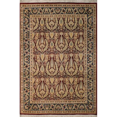 One-of-a-Kind Mulhall Hand-Knotted Wool Red/Blue Area Rug