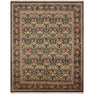 One-of-a-Kind Mulhall Hand-Knotted Wool Black/Red Area Rug Rug Size: Rectangle 811 x 102