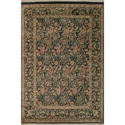 One-of-a-Kind Mulhall Hand-Knotted Wool Black/Pink Area Rug