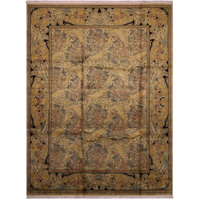 One-of-a-Kind Mulhall Hand-Knotted Wool Gold/Blue Area Rug