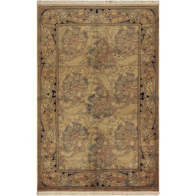 One-of-a-Kind Mulhall Hand-Knotted Wool Tan/Gold Area Rug
