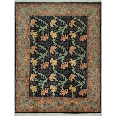 One-of-a-Kind Mulhall Carnation Hand-Knotted Wool Black/Tan Area Rug