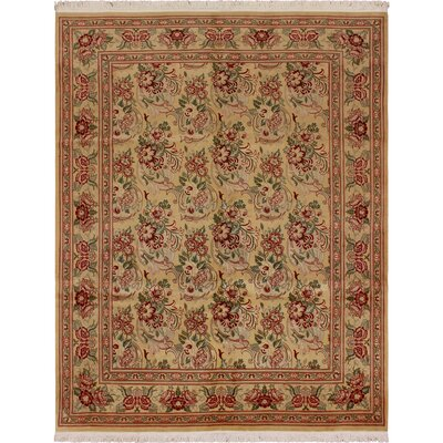 One-of-a-Kind Mulhall Bessarabian Hand-Knotted Wool Gold/Red Area Rug