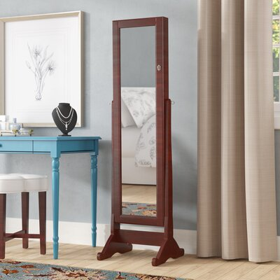 Neilsen Cheval Mirror Jewelry Armoire with Mirror Color: Cherry