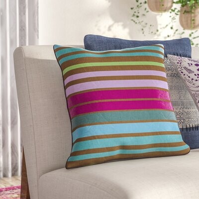 Radad Sparkling Throw Pillow Size: 18, Color: Blue, Filler: Polyester