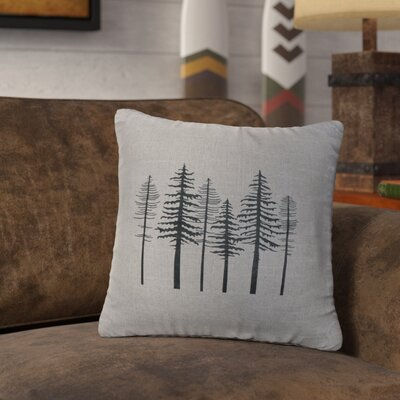 Nakasi Trees Throw Pillow Color: Gray