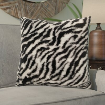 Kronburgh Animal Faux Fur Throw Pillow Color: White/Black