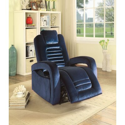 Lanza USB Power Dock Power Recliner Upholstery: Blue