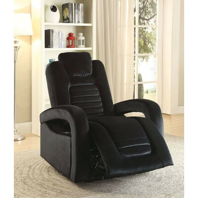 Lanza USB Power Dock Power Recliner Upholstery: Black